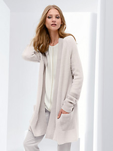 Fadenmeister Berlin - La longue veste en maille en pur cachemire