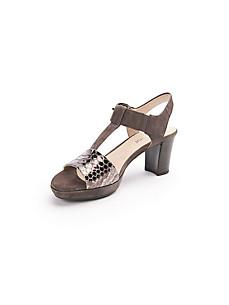 Gabor - Les sandales en cuir à plateau - modèle Comfort