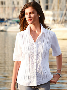 Just White - Blouse met korte mouwen