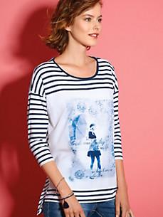Looxent - Shirt met ronde hals en 3/4-mouwen