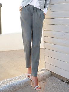 Riani - Leren broek in enkellang model