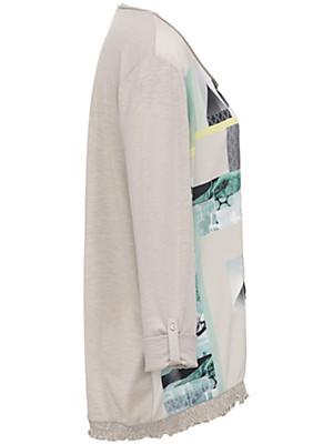 FRAPP - Shirt met ronde hals