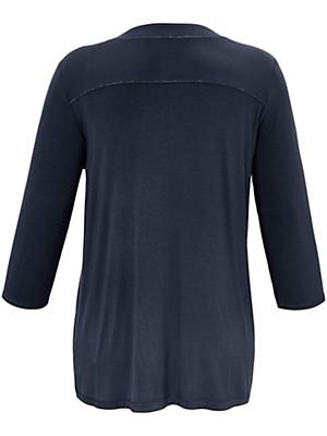 FRAPP - Shirt met V-hals en driekwartmouwen