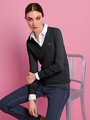Lacoste - Le pull col V en pur coton