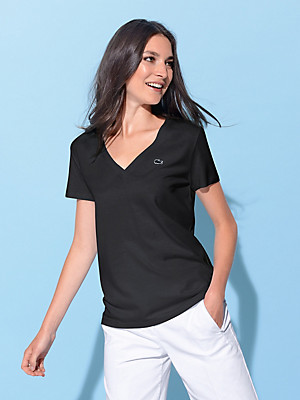 Lacoste - Shirt met V-hals en korte mouwtjes
