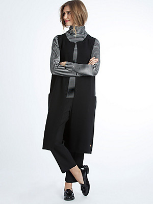 LIEBLINGSSTÜCK - Extra lang, mouwloos jerseyvest in trendy look