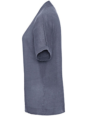 Peter Hahn - Cardigan met korte mouwen van 100% linnen