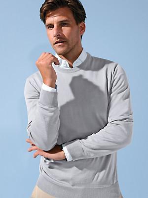 Peter Hahn - Trui met ronde hals van 100% scheerwol