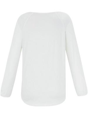 Samoon - Shirt in een materialenmix