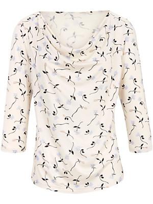 Uta Raasch - Le T-shirt imprimé à manches 3/4 avec col bénitier