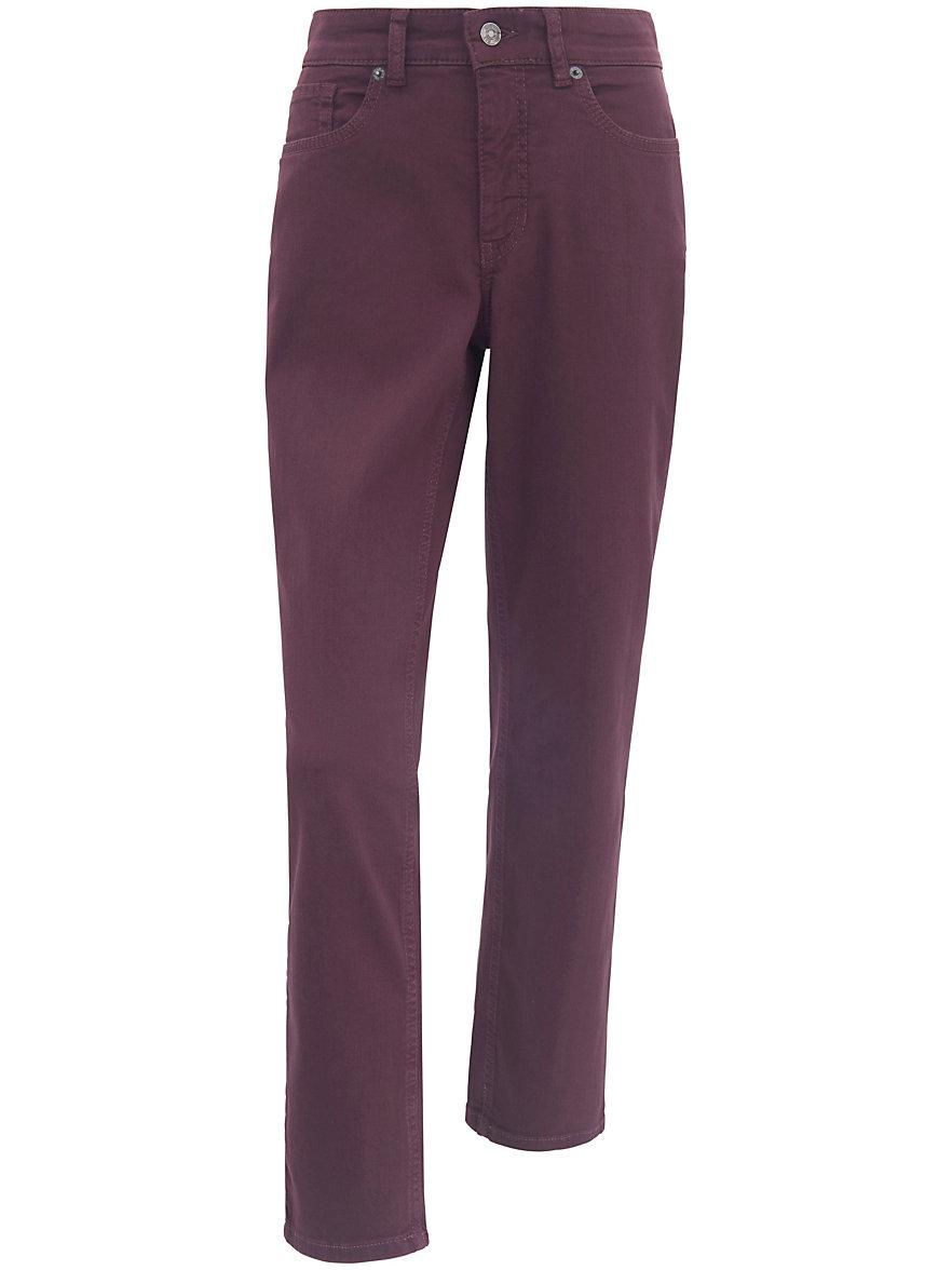 mac jeans melanie met smalle taille inchlengte 32 bordeaux denim. Black Bedroom Furniture Sets. Home Design Ideas
