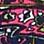 navy/roze/multicolour