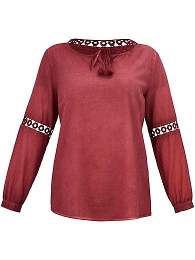 FRAPP - Tunique en coton avec empiècements brodés