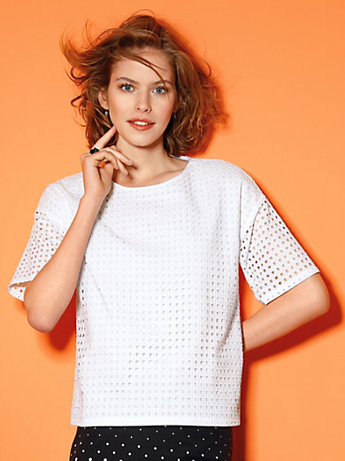 Looxent - Blouseshirt met verbrede schouders en korte mouwen