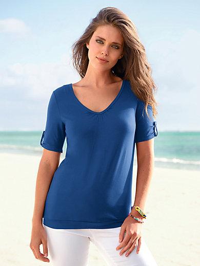 Looxent - Shirt met V-hals en korte mouwen