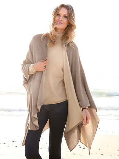 Peter Hahn Cashmere Nature - Cape van 100% kasjmier