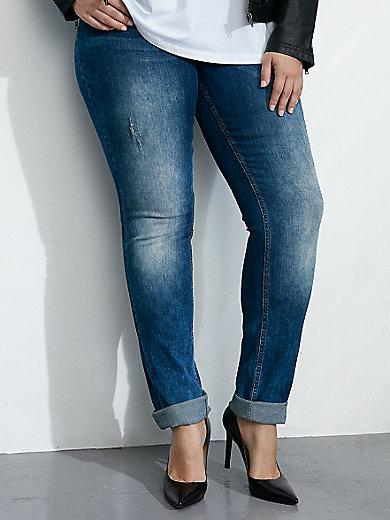zizzi - Jeans 'Nille Slim' met knoopsluiting