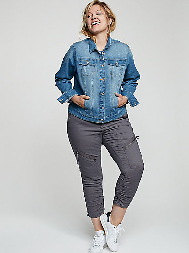 zizzi - Jeansjack in kort model